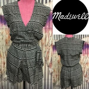 Madewell faux wrap romper sXS